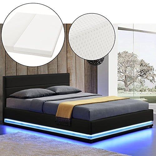 polsterbett toulouse 140 x 200 cm schwarz mit. Black Bedroom Furniture Sets. Home Design Ideas