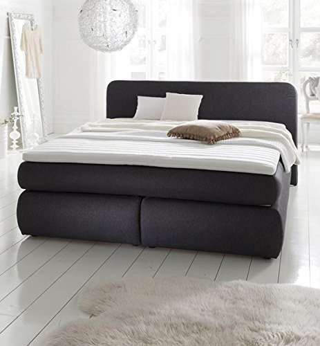 boxspringbett hamburg 180x200 anthrazit h2 mit 7 zonen taschenfederkern luxusliegeh he. Black Bedroom Furniture Sets. Home Design Ideas