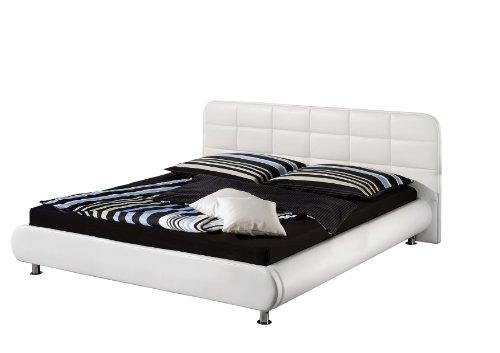 Maintal Betten 234062-4691 Polsterbett Loft 140 x 200 cm, Kunstleder weiß