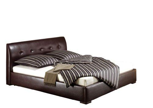 Maintal Betten 231478-4828 Polsterbett Zari 160 x 200 cm, Kunstleder braun