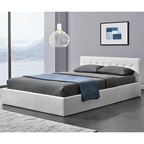 Polsterbett Marbella 140 x 200 cm - weiß   ArtLife