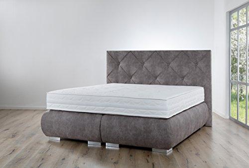 Boxspringbett Breckle Arga Palace - Premium Qualität - (200 x 200 cm, ohne Topper)