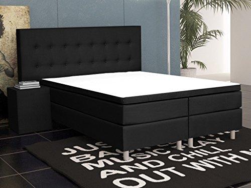 inter 15695 boxspringbett schaumstoff schwarz 200 x 180 x 60 cm boxspringbetten. Black Bedroom Furniture Sets. Home Design Ideas