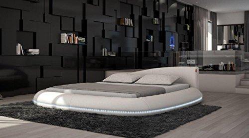 Rundbett Komplettbett Modica LED + Matratze + Lattenrost