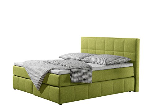 Maintal Betten Box springbett Casano, Strukturstoff denim-blau