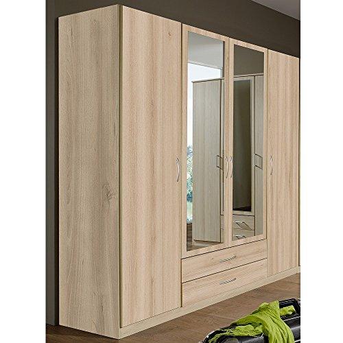 Wimex Kleiderschrank 019453 Sprint, Edelbuche mit Spiegel, Breite 180 cm