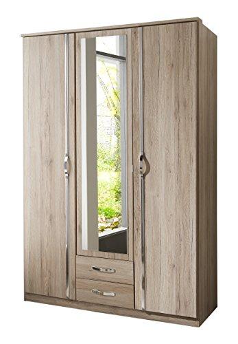 Wimex Kleiderschrank Duo, 3-türig mit zwei Schubkästen und einer Spiegeltür