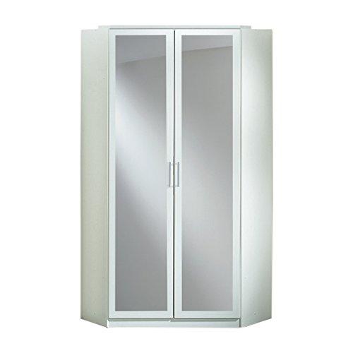 Wimex Kleiderschrank/Eckschrank Click, 2 Türen, 1 Spiegel, (B/H/T) 95 x 198 x 95 cm, Alpinweiß