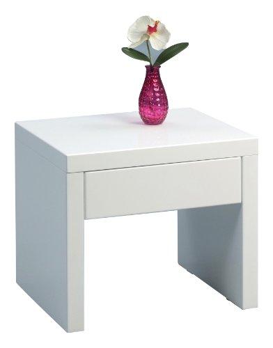 HomeTrends4You 517050 Beistelltisch, 45 x 40 x 38 cm, weiß Hochglanz