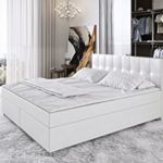 Sedex 'Zenga' Boxspringbett 180x200cm Bett Doppelbett Komplettbett Hotelbett Kunstleder - weiß