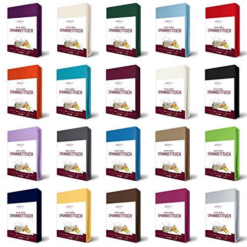 EllaTex FROTTEE Topper Spannbettlaken 90x190-100x200 cm, in Farbe: Weiß