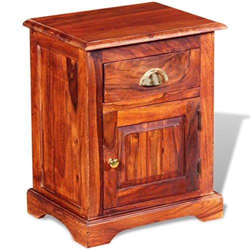 Festnight 1 Stk. Nachttisch Nachttische aus Massives Sheesham-Holz als Beistelltisch Nachtkästchen mit 1 Schublade 40 x 30 x 50 cm