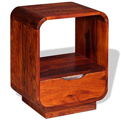 Festnight Nachtkonsole Nachttisch Nachtkommode Nachtschrank mit Schublade Massives Sheesham-Holz 40 x 30 x 50 cm