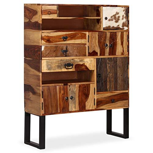 Festnight- Sideboard Beistellkommode Sheesham-Holz Massiv 100 x 30 x 130 cm