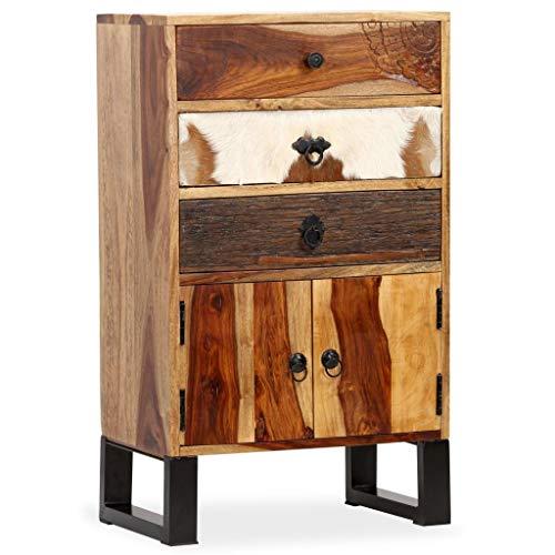 Festnight- Sideboard Beistellkommode Sheesham-Holz Massiv 50 x 30 x 86 cm
