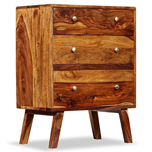 Festnight Sideboard Holz Nachttisch Sheesham Massivholz 60x35x76 cm