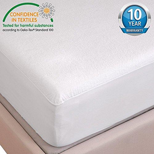 HYSENM Matratzenschutz Spannbettlaken Baumwolle luxus 100% wasserdicht raschelt NICHT allergikergeeignet robust für 5-35cm Matratze verschiedene Größen 10 Jahre Garantie, 160x190/200