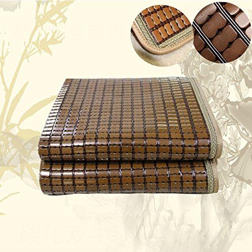 LJ&XJ Faltbare kühlen Sommer Pad matratze Schlafen,Langlebiges gut verkohlt Mahjong Bambus Matte glatt schlafsaal matratze Top mat-Twin & voll & Queen & könig-E 80x190cm(31x75inch)