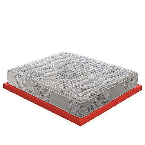 M&D - Memory Foam Matratze mit 11 verschiedenen Zonen – 7 cm Memory Foam - Zertifiziertes Medizinprodukt - 100% Made in Italy - Polifoam Model (80x190)