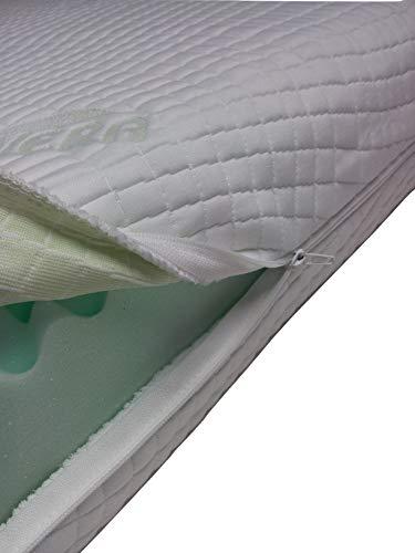 Mail2Mail Matratzenbezug Allergikergeeignet mit 4-seitigem Reißverschluss aloevera Easy clean, Matratzenschoner, Matratzenbezug alle Größen alle Höhe, (80 x 190 cm)