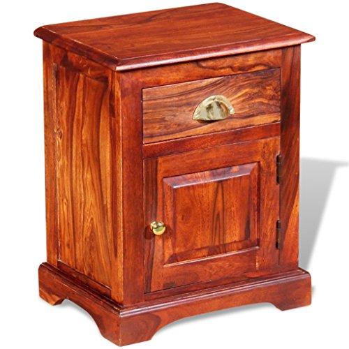 Nachttisch Nachtkommode Massives Sheesham-Holz 40 x 30 x 50 cm