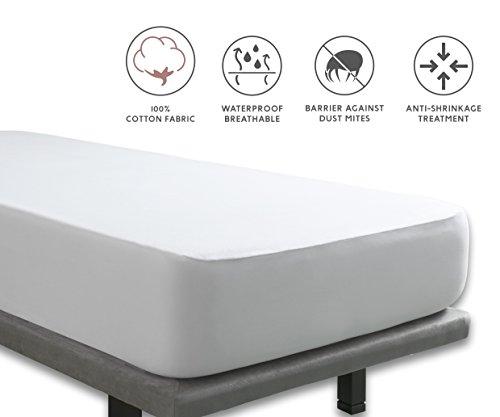 Tural - Wasserdichter und Atmungsaktiver Molton-Matratzen-Auflage. Gewebe aus 100% Baumwolle. Größe 80x190/200cm - Matratzenschoner