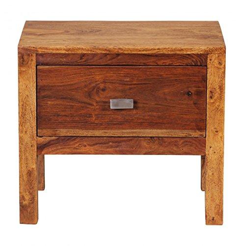 Wohnnling Nachtkonsole BZW. Nachttisch mit Schublade aus Massivholz Sheesham; Maße (B/T/H) in cm: 45 x 30 x 40