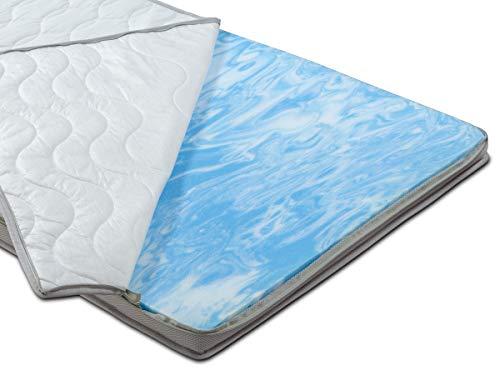 BMM Topper Gel-Schaum Deluxe Matratzenauflage H2 Soft, Aloe Vera Bezug, automatische Anpassung an Ihre Kontur, Klimaband Belüftung