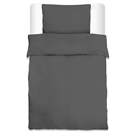 Beautissu Bettwäsche Renforcé Julie 2er Set Bettbezug 135x200 cm oder 155x220 cm und Kopfkissenbezug 80x80 cm oder 2er Set Kopfkissenbezug 40x80 cm Uni in 5 Oeko-Tex Zertifizierung