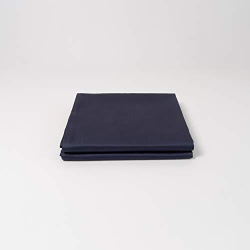 Bettwäsche aus 100% ägyptischer Baumwolle - einfarbig/univfarben in Weiss, grau und blau - kuscheliger, Warmer, weicher Satin für besten Schlaf