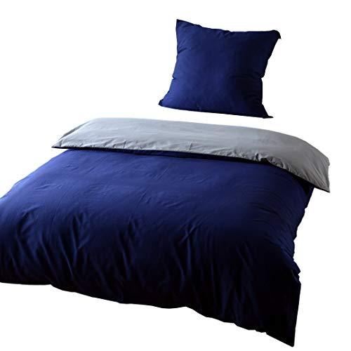 KEAYOO Bettwäsche 135x200 cm Baumwolle 2 teilig Super Weiche Atmungsaktive mit Reißverschluss