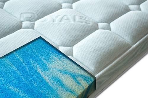 PAARA Royal-WS® Matratzenauflage Gelschaum Memory mit 7-8cm Gesamthöhe und Raumgewicht RG 50 mit Gelax 5cm Bezug Waschbar
