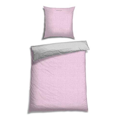 Schiesser Renforcé Bettwäsche Doubleface Rose - Silber Wendebettwäsche, 2-teilig, 100% Baumwolle, versch. Größen erhältlich