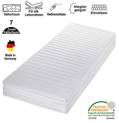 Traumland 7 Zonen Matratze Komfort Kaltschaummatratze Härtegrad 2in1 H2 & H3 Rollmatratze alle Größen
