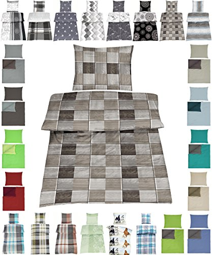 Wasserbetten-Markenshop Baumwolle Bettwäsche Renforce 2 Größen viele schöne Designs