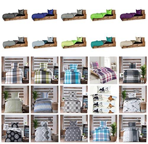 Wasserbetten-Markenshop Baumwolle Renforcè Bettwäsche in verschiedenen Größen GRATIS 1x Waschhandschuh von Falco