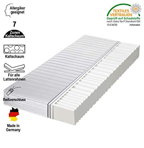 cpt hydrovital 16 Premium 7 Zonen Kaltschaummatratze (1232312) Allergiker geeignet, Härtegrad 2 in 1 H2 & H3, Bequem & Gesund schlafen - Herstellung in Deutschland