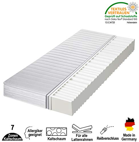 cpt hydrovital 7 Zonen Premium Kaltschaummatratze - Matratze Härtegrad 2in1 H2 & H3 - Rollmatratze