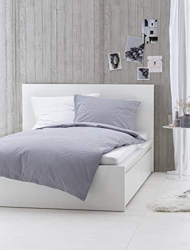 myHomery Bettwäsche 2-teilig Muster modern - Design Bettbezug & Kissenbezug mit Reißverschluss - Bettwäsche-Set 100% Baumwolle -