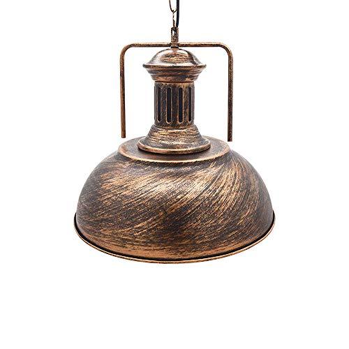 Huahan Haituo Hängeleuchte Metall Malerei Kronleuchter Vintage Antik Deckenleuchte EDISON Durchmesser 33 cm /42 cm kabelgebunden Lampenschirm