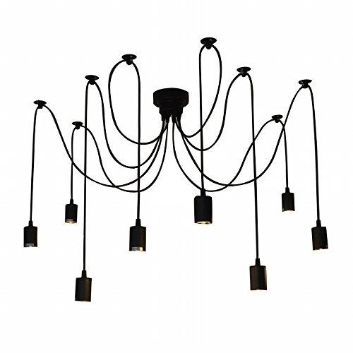 Lixada Kronleuchter Pendelleuchten 6 Lichter Hängende Lampen Deckenbeleuchtung