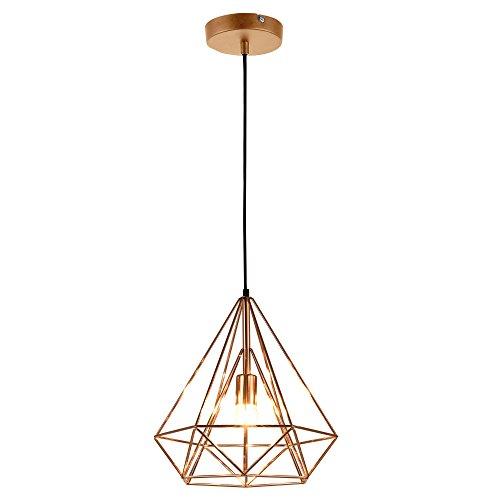 [lux.pro] LED Hängeleuchte Industria/Deckenleuchte (1 x E27 Sockel)(37cm x Ø 40cm) Hängeleuchte/Vintage/Retro Design/Industrial Design