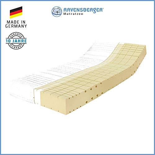 RAVENSBERGER Komfort-SAN® 50 | HR-Kaltschaummatratze | H2, H3 oder H4 | Made IN Germany - 10 Jahre Garantie | Baumwoll-Doppeltuch-Bezug | 80x190cm bis 180x220cm