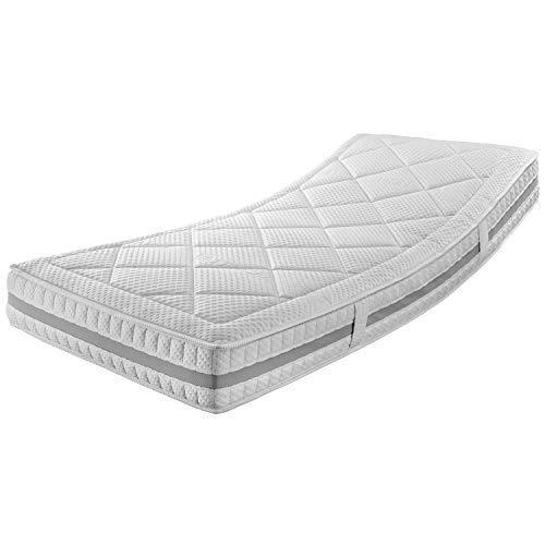 Ravensberger Matratzen® ERGOspring TFK 1000 | 7-Zonen Deluxe Tonnen-Taschenfederkernmatratze 1000 | Made IN Germany - 10 Jahre Garantie | Bezug Tencel-Doppeltuch