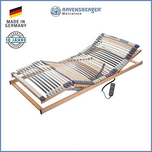 Ravensberger Matratzen® MEDIMED® Lattenrost | 7-Zonen-Buche-Lattenrahmen | 44 Leisten| Elektrisch| Made IN Germany - 10 Jahre GARANTIE | TÜV/GS